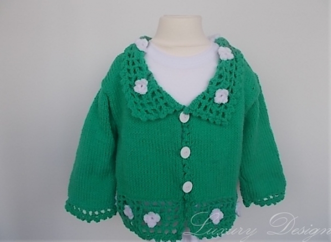 Strickanleitung Kinderjacke 6 Monate-3 Jahre Spring Design No.13
