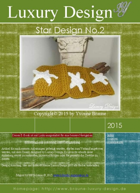 Häkelanleitung 12-18 Mo. Star Design No.2