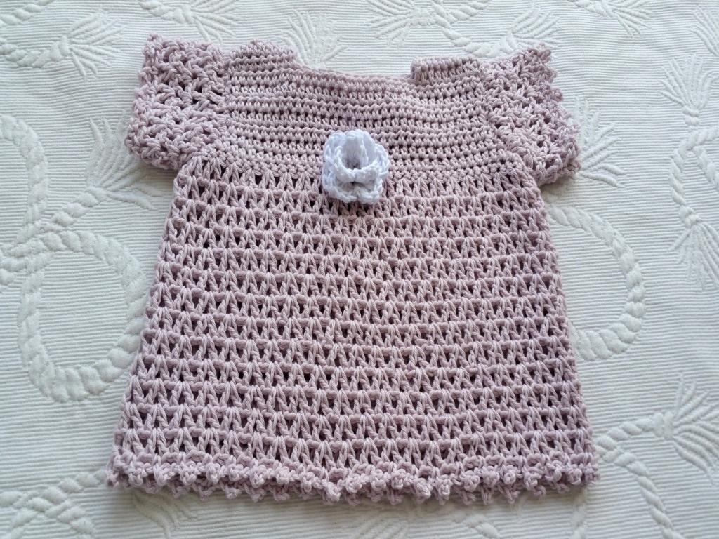 Häkelanleitung Baby Kleid - Farbverlaufsgarne und Farbverlaufswolle ...