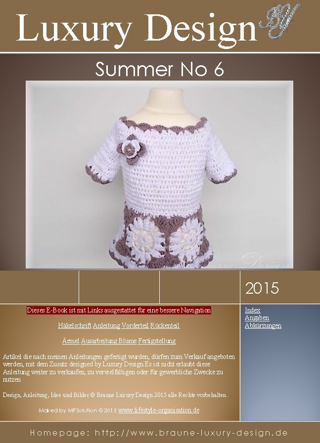 E-Book Häkelanleitung Kinderkleid Summer No.6 - Farbverlaufsgarne ...